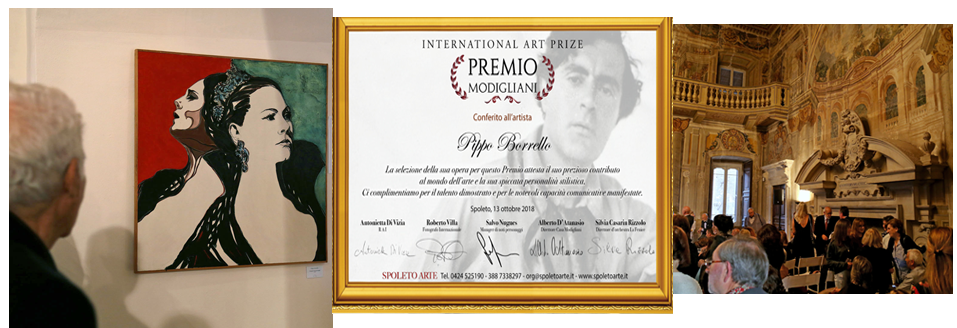 International Art Prize Premio Modigliani a Pippo Borrello